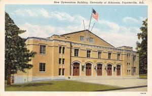 Fayetteville AR~Univerity of Arkansas~Gymnasium Building~1937 Linen Postcard