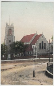 Kent; St Mary's Church, Chatham PPC By B&D, Unused, c 1910's