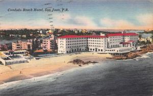 Condado Beach Hotel, San Juan, Puerto Rico, Early Linen Postcard, Used