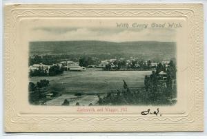 Ladysmith Showing Waggon Hill Panorama KwaZulu Natal South Africa 1908 postcard