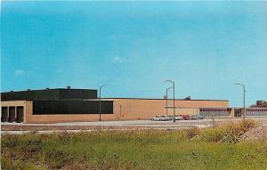 Fairfield Iowa~Rockwell Standard Corp~Factory~1960s Cars in Parking Lot~Postcard
