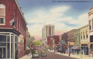 SPARTENBURG, South Carolina; North Church Street, 30-40s