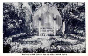 MO - St Louis. Forest Park. Jewel Box, Easter Altar Display