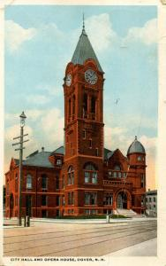 NH - Dover. City Hall and Opera House (damaged card)
