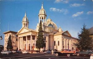 San Jose California~St Joseph's Catholic Church Cathedral~1950s Cars~Postcard