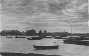 Green Harbor Massachusetts River by Moonlight Antique Postcard J51385