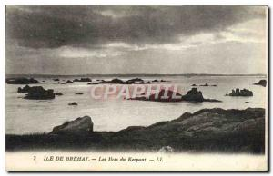 Old Postcard Ile De Brehat The islands of Kerpont