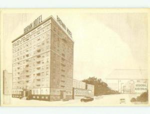Unused 1950's THE BROWN HOTEL Des Moines Iowa IA HQ0187-12