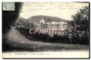 Old Postcard Pierrefonds the Etang Edges