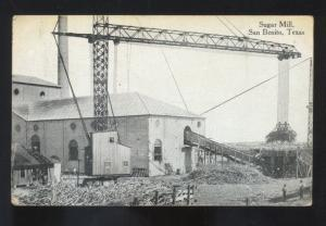 SAN BENITO TEXAS SUGAR MILL FACTORY VINTAGE POSTCARD MARSHALL MISSOURI 1912