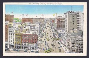 Portage Avenue Winnipeg Manitoba unused c1930's