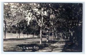 Postcard Fort Logan, Colorado CO AZO 1917-1930 RPPC H14