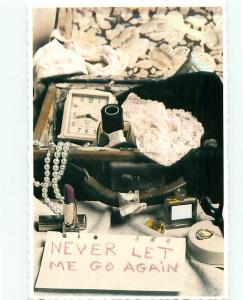 Paris France Art Black White Never Let Me Go Again Lace Jewerly Postcard  # 6149