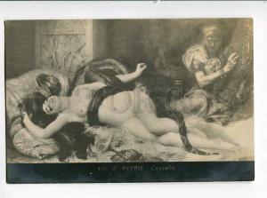 264136 Nude SALAMMBO w/ SNAKE & Slave by FERRI Vintage PC