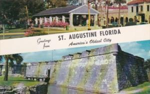 Florida Greetings From St Augustine Showing Old Slave Market