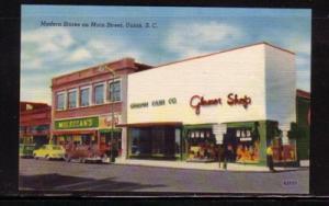 South Carolina colour PC Modern Stores Main Street, Union, unused