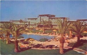 1950s Hotel Flamingo Pool Las Vegas Nevada Roberts Souvenir postcard 2919