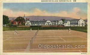 Bennington College, Bennington, VT.,USA Tennis, Old Vintage Antique, Post Car...
