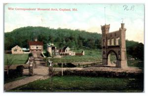 Early 1900s War Correspondents Memorial Arch, Gapland, MD Postcard