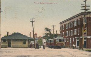HERKIMER , New York , 1908 ; Trolly station