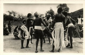 PC CPA ETHNIC NUDE FEMALE AND MALE TYPE, IVORY COAST Vintage Postcard (b5336)