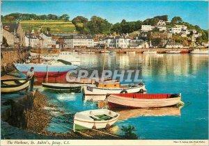 Modern Postcard The Harbor St Aubin's Jersey CI
