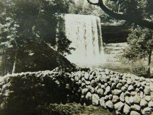 Minnehaha Falls Minneapolis Minnesota Waterfall Real Photo Vintage Postcard