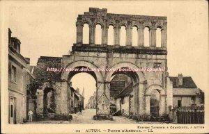 Autun Old Postcard Porte d & # 39Arroux