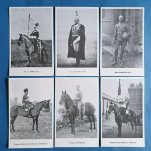 The British Army Cavalry Regiments Postcards Set of 6 set 2 by Geoff White Ltd