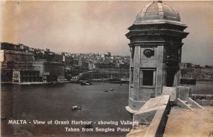 Lot120 malta view of grand harbour showing valleta real photo