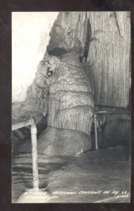 RPPC STANTON MISSOURI MERAMEC CAVERNS CAVE INTERIOR REAL PHOTO POSTCARD MO