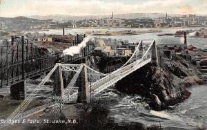 Canada N.B. St. John Bridges & Falls, Panorama Acadian