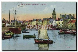 Old Postcard Fishing Boat Croisic Port