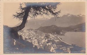 Switzerland St Moritz Dorf Vue Generale Real Photo
