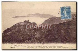 Old Postcard Panorama Eze and Cap Ferrat Views From The Grande Corniche