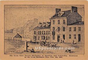 Seven Stars Tavern, Destroyed Fire Feb 4, 1904 Baltimore MD Unused