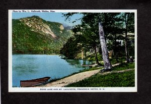 NH Echo Lake Mt Lafayette Camps Cottages Franconia Notch New Hampshire Postcard