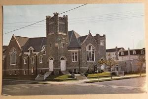 First Presbyterian Church Ocean City NJ Postcard Grey Stone Tower 7th and Wesley
