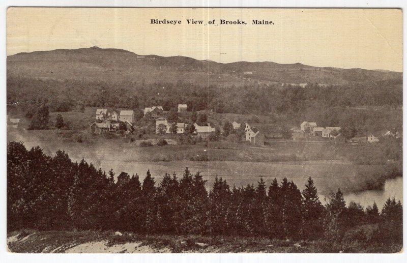Birdseye View of Brooks, Maine