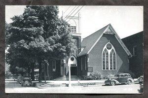 dc153 - ANGOLA Indiana 1954 Methodist Church. Cars. Real Photo Postcard