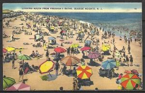 New Jersey, Seaside Heights - Looking South From Freeman's Baths - [NJ-082]