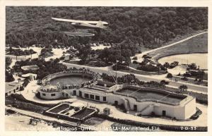 Marineland Florida~Marineland Studios Aerial View~Airplane Above Pool~'40s RPPC