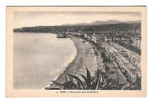 France Nice Pris du Chateau View from Castle Vntg X Goutagny Postcard Panorama