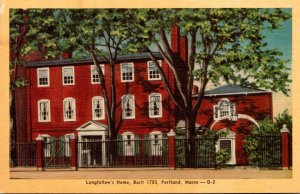 Maine Portland Longfellow's Home Built 1785