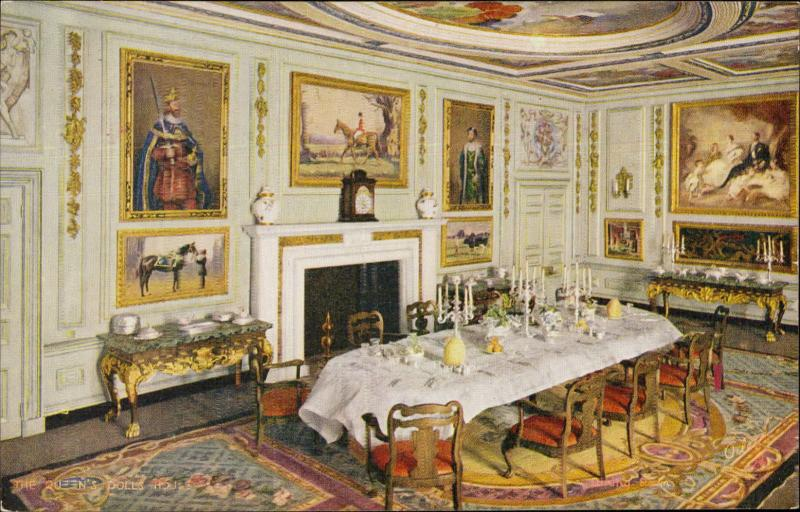 The queen's Dools house dining room fireplace Oilette interior Tuck's