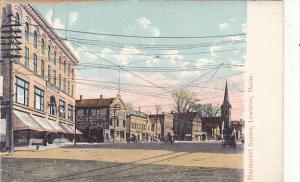 Maine Lewiston Haymarket Square Street Scene