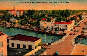 Florida Fort Lauderdale New River and Andrews Avenue 1944