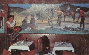Western Hills Hotel Branding Room Mural Fort Worth, TX c1950s Vintage Postcard