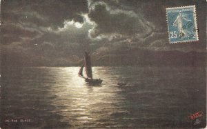 On the Clyde Tuck Oilette Moonlit Seas Ser. PC # 10051