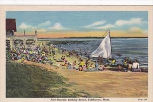 Massachusetts Fairhaven Fort Phoenix Bathing Beach Curteich